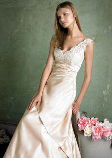 SILK V neck Lace Valenta Wedding Dress md# Alvina
