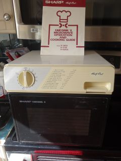 II Half Pint Microwave Oven R 1M50 White Almond w Manual Works
