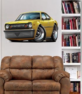 AMC Hornet Hatchback Race Cars Wall Graphic Fat Decal Man Cave Bar