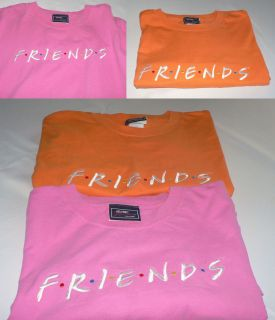 Friends TV Show 2 Tee Shirts Friends XXL Orange Pink Friends