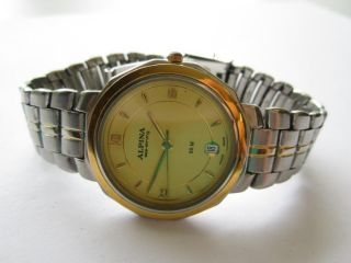 Alpina Sea Strong 50m stainless steel Bi color swiss made watch