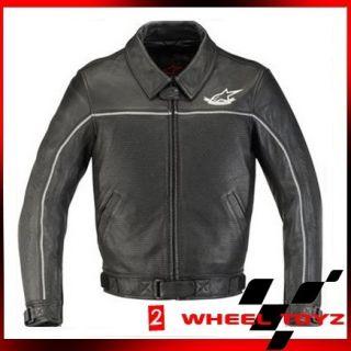Alpinestars Jd 1 Black Leather Motorcycle Jacket Size 2Xlarge