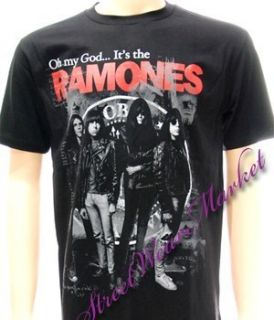 Ramones American Retro Rock Band Music Men T Shirt Sz L
