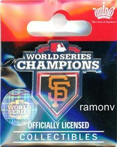 Francisco Giants World Series Champions Pin SF Champs IN STOCK aminco