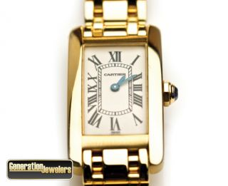 Incredible Cartier 1710 Americaine Tank Ladies Watch 18K Yellow Gold