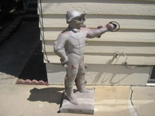 Concrete Machinery Co Lawn Jockey Cavalier Aluminum Concrete Mold