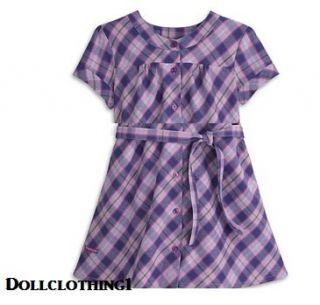American Girl Doll Pretty Plaid Dress for Dolls Fast SHIP