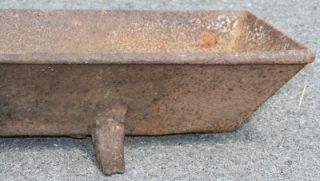 Cast Iron Feeder Trough Primitive Antique Metal Rustic Barn Decor