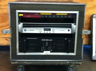 Crown I 4000 Amplifier wih Cres Audio Amplifier and EAW MX8750