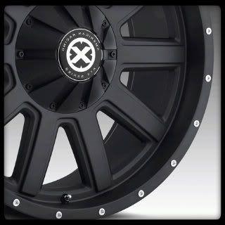American Racing AX805 Force Black Suburban Tahoe Yukon RAM Wheels Rims