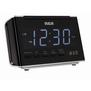 RCA AM/FM clock radio   Large 1.4 blue LED display fo