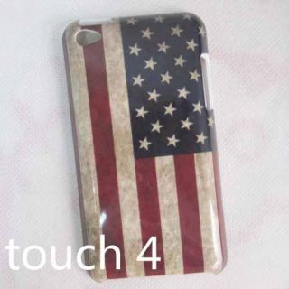 1x Retro American England Flag Hard Skin Case Cover for iPod Touch 4