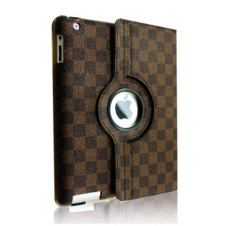 PU Leather Rotating Magnetic Case Smart Cover Stand for The New iPad 3