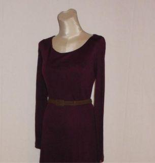 Ralph Lauren Belted Silk Blend Jersey Long Sleeve Career Dress XL $199