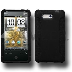 Amzer Silicone Soft Skin Jelly Fit Case Cover for HTC Aria Black