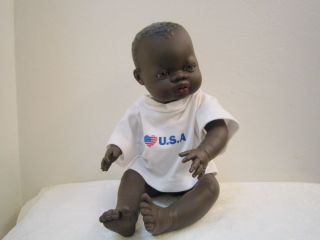 Miniland Anatomically Correct African American Baby Boy Doll