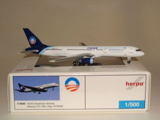 518680 Herpa Wings 1 500 North American Airlines B757 Obama 08 Change