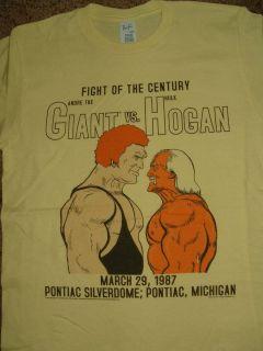 Andre The Giant vs Hulk Hogan Fight of The Century Wrestling T Shirt