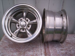 American Racing Mag Wheels Chevy 15x8 4 3 4 BP Gasser Hot Rat Rod Car