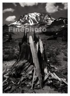 1949 Vintage California Volcano Lassen Mountain Landscape Photo Art