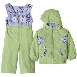 New Girls Columbia Ski Jacket Coat Snow Bibs 4 5