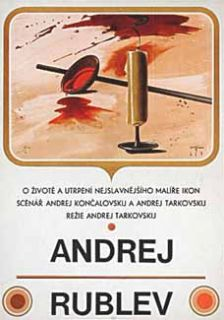 Andrei Rublev Original 1969 Czech Poster Andrei Tarkovsky