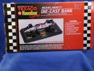 Texaco Havoline Racing 1995 Michael Andretti Diecast Indy Car Bank