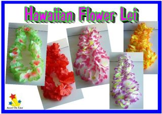 12 x Hawaiian Flower Lei Assorted Leis Bulk Lot New Party Favours