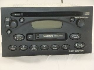 OEM AM FM CASSETTE CD PLAYER RADIO SATURN ION L S SERIES VUE 2000 2001