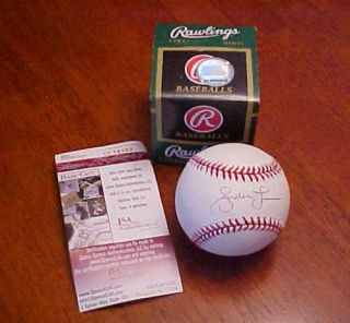 Andruw Jones  New York Yankees Autographed Baseball with
