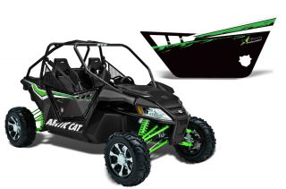 AMR Racing Graphic Decal Kit Pro Armor Doors Arctic Cat Wildcat UTV