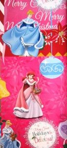 new christmas princess ariel gift wrap paper party