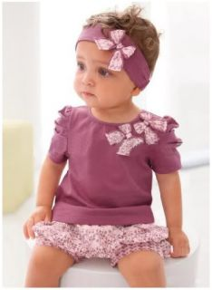 3pcs New Cotton Baby Girl Short Top+Pant+Headband Set Costume Clothes
