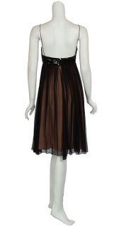 Delightful Angel Sanchez Silk Leather Eve Dress 10 New
