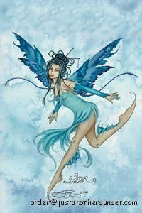 Amy Brown Water Element Fairy Faery Metal Magnet New
