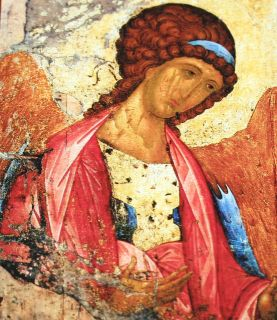 Russian Orthodox Icon XV C Look Wood Andrei Rublev
