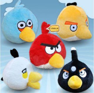 5pcs 3 Angry Birds Animal Game Plush Toy Set Cute Soft