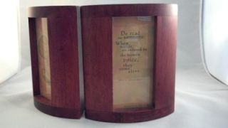 Set of 2 Bookends Maya Angelou Life Mosaic Hallmark Wooden Photo Poem