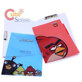 Rovio Angry Birds Multipurpose File Holder 3 Tab Poly Folder 3pc Set