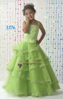PAGEANT NATIONAL TIFFANY FLOWER GIRL PERFECT ANGEL CHRISTMAS DRESS NWT