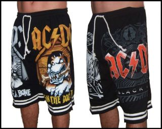 AC DC Angus Young Mens Black Shorts Free Size