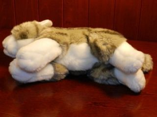 Animal Alley Grey Gray White Tabby Kitty Cat Plush Stuffed Toys R US 9
