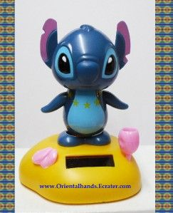 Large Lilo Stitch Solar Power Belly Dancing Bobblehead