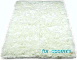 Accent Rug Faux Fur Polar Bear Hide Plush Accent Pelt New