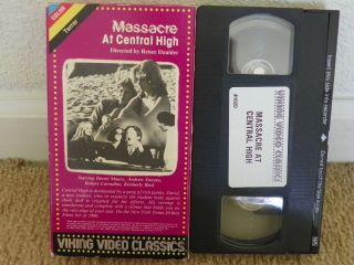 Massacre at Central High VHS Andrew Stevens Robert Carradine RARE