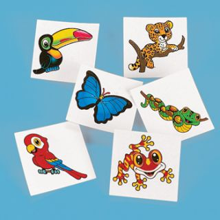 Tattoos Temporary Safari Jungle Animal Party Favors Goody Bag