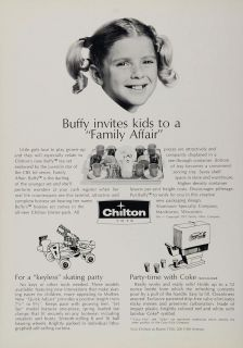 1971 Ad Chilton Toys Buffy Family Affair Tea Set Coke Original