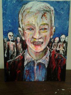 ANDERSON COOPER ZOMBIE portrait .jack larson 8x10 acrylic on canvas
