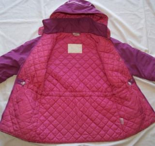 Hanna Andersson Girls 130 7 8 9 Purple Winter Coat Jacket 120 6 7 8