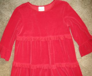 HANNA ANDERSSON GIRLS LOVE TO TWIRL RED VELOUR CHRISTMAS DRESS SIZE